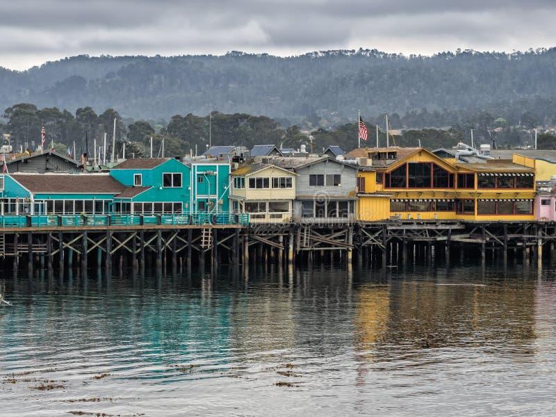 O cais do pescador de Monterey, Califórnia fotos de stock