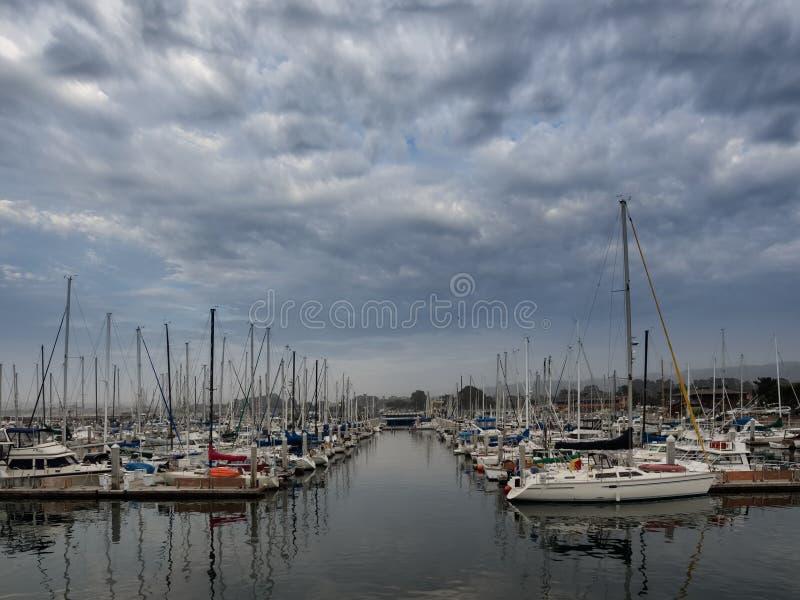 O cais do pescador de Monterey, Califórnia imagens de stock