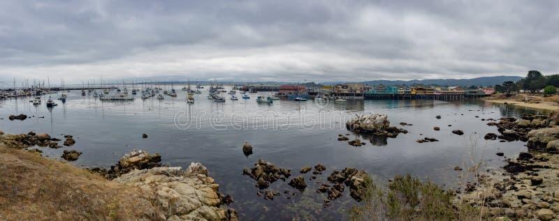 O cais do pescador de Monterey, Califórnia fotografia de stock