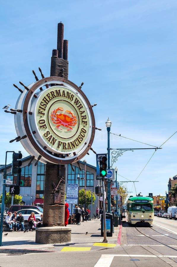 O cais do pescador famoso de San Francisco imagem de stock