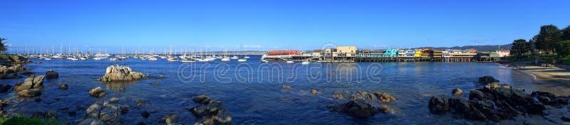 O cais do porto e do pescador de Monterey fotografia de stock royalty free