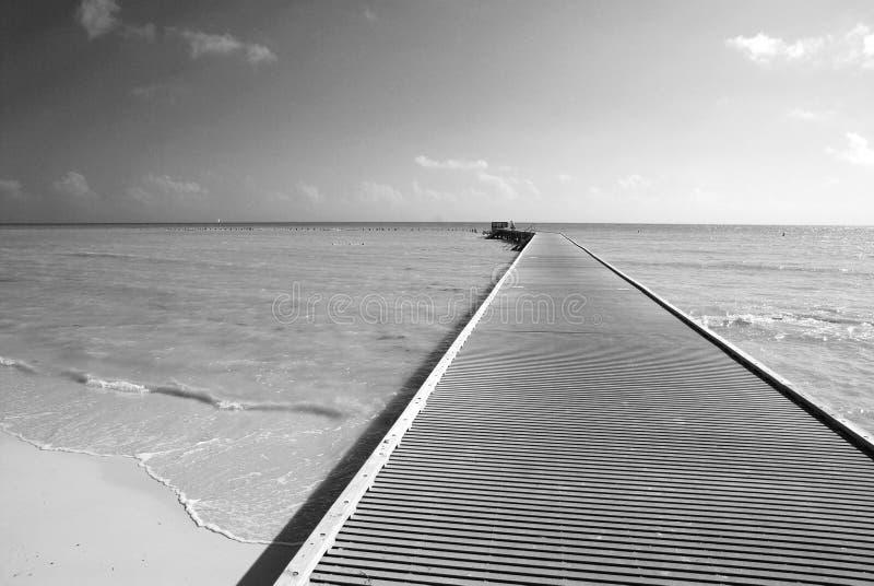 O cais o mais southernmost fotografia de stock