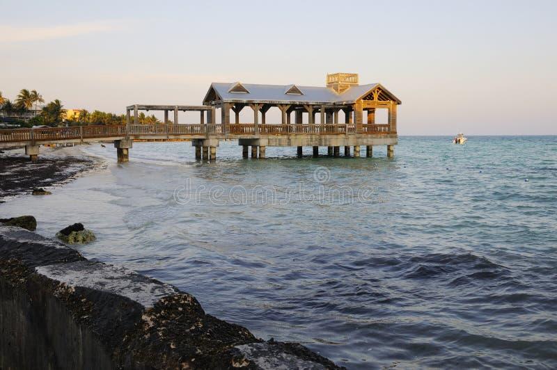 O cais o mais southernmost em Key West Florida imagem de stock royalty free