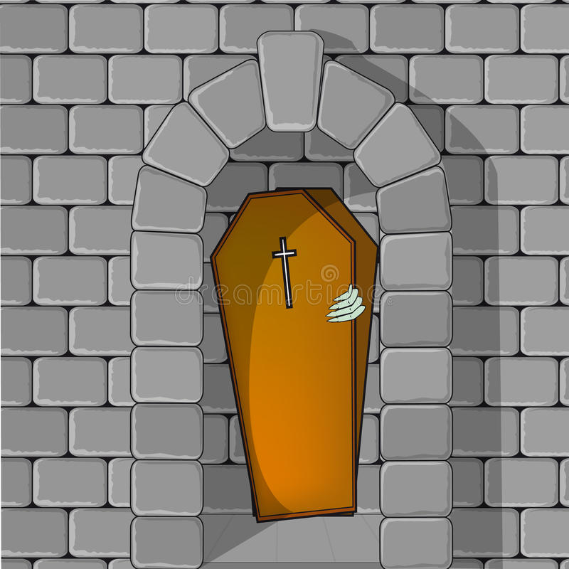 O caixão está aberto! ilustração stock