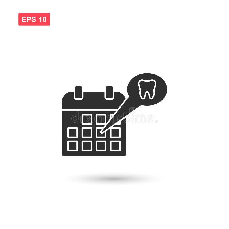 O calendário com projeto do vetor dos dentes isolou 8 ilustração do vetor