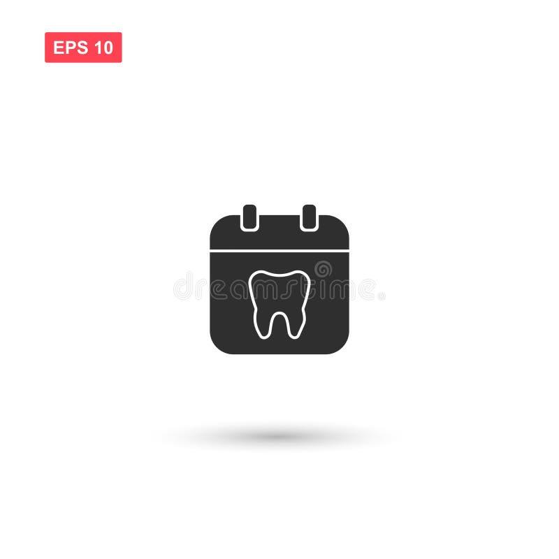 O calendário com projeto do vetor dos dentes isolou 4 ilustração royalty free