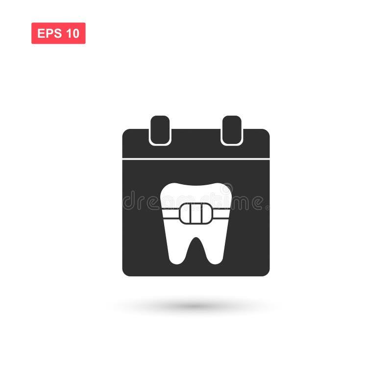 O calendário com projeto do vetor dos dentes isolou-se ilustração royalty free