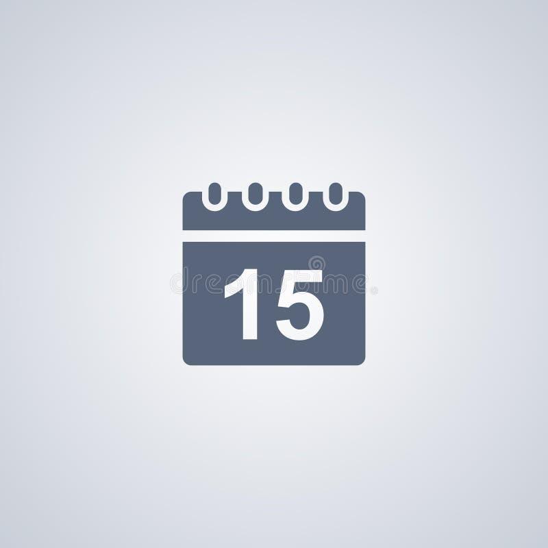 O calendário, dados, vector o melhor ícone liso ilustração do vetor