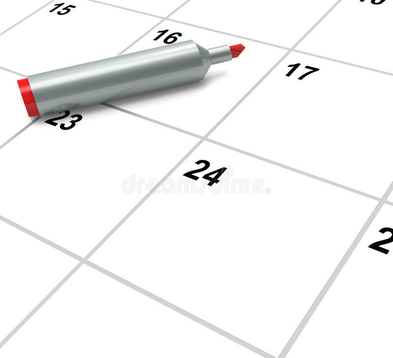 O calendário vazio mostra a programação ou o evento de nomeação ilustração do vetor