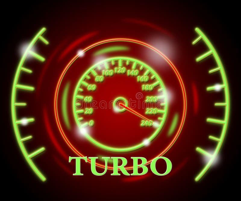 O calibre do turbocompressor mostra o compressor e a turbina do indicador ilustração do vetor