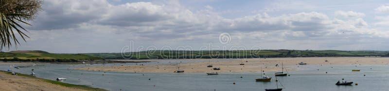 O camelo do rio Um estuário maré em Cornualha norte Reino Unido fotografia de stock