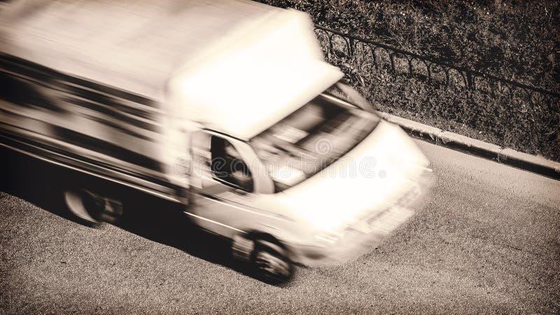 O caminhão de entrega imagem de stock