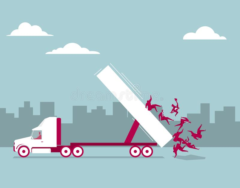 O caminhão está descarregando ilustração stock