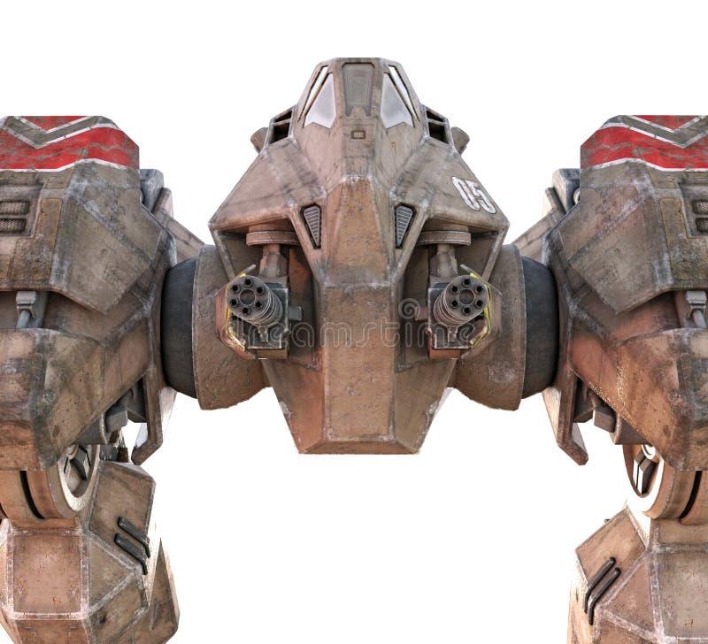 O caminhante 3D de Mecha do gigante rende imagem de stock