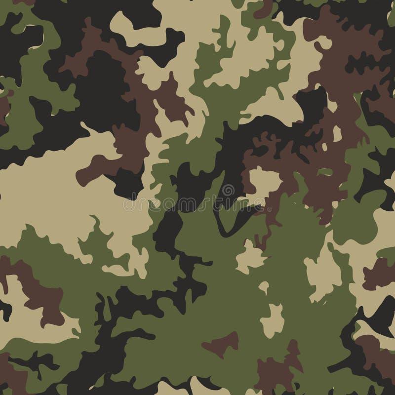 O camo militar da textura repete a caça sem emenda do verde do exército ilustração royalty free