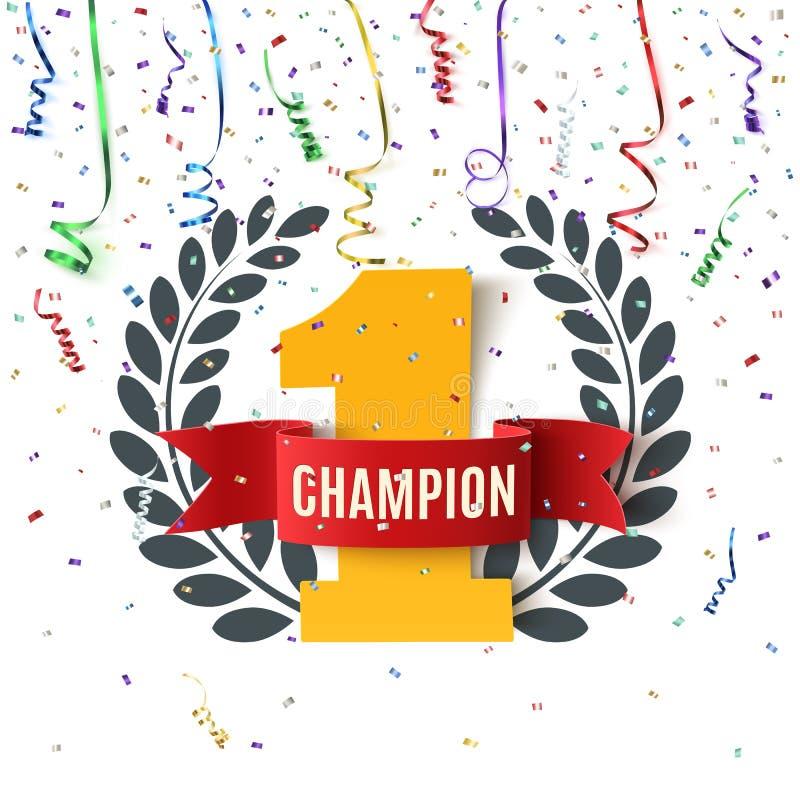 O campeão, vencedor, numera um fundo ilustração stock