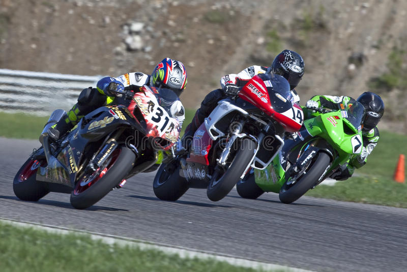 O campeonato de Canadá Superbike das peças (em volta de 1) pode foto de stock royalty free