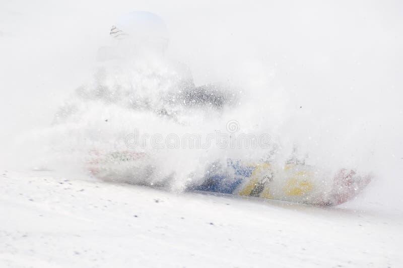 O CAMPEONATO DE RÚSSIA EM UM SNOWBOARD foto de stock royalty free