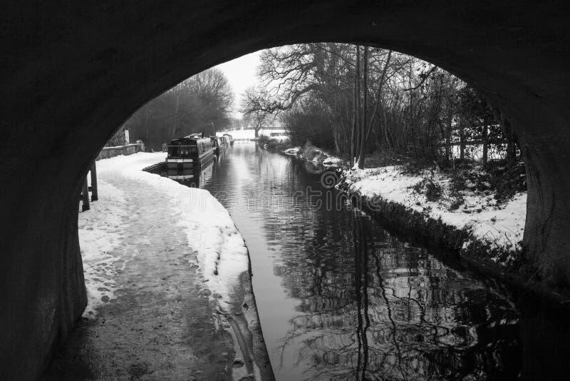 O canal de Llangollen no inverno foto de stock royalty free