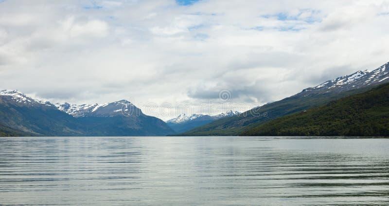 O canal do lebreiro em Tierra del Fuego fotos de stock