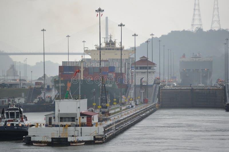 O canal do Panamá fotografia de stock