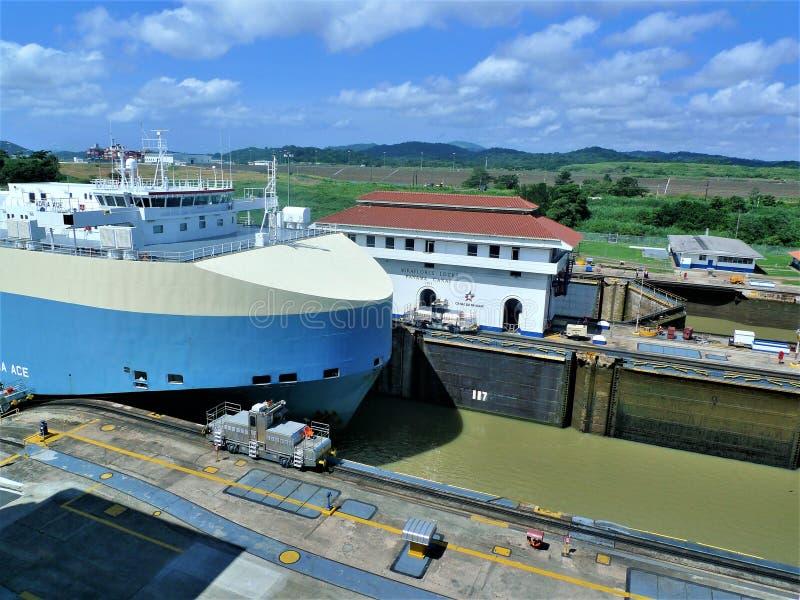 O canal do Panam? fotos de stock royalty free