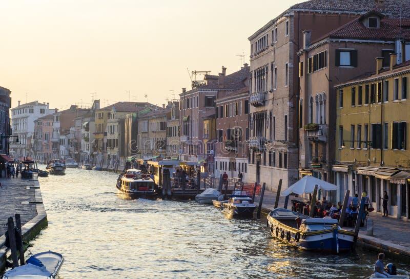 O canal grande de Veneza fotografia de stock