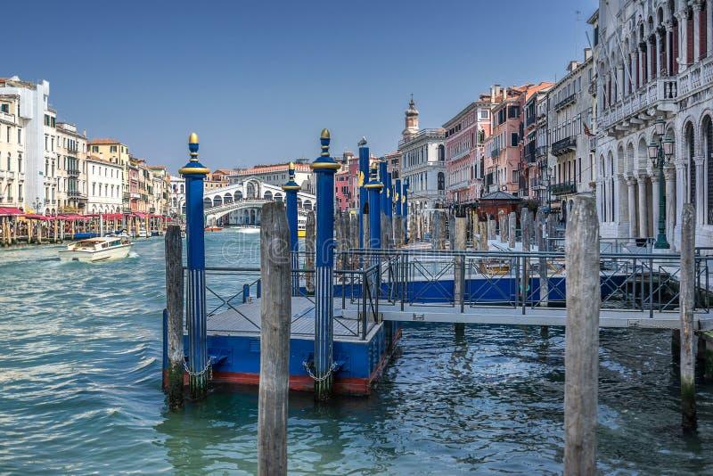 O canal grande em Veneza fotografia de stock