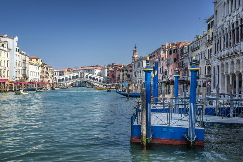 O canal grande em Veneza foto de stock
