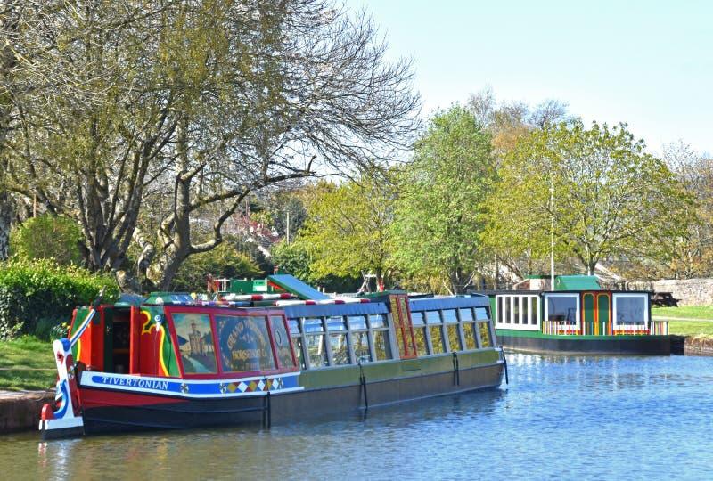 O canal ocidental grande em Tiverton imagens de stock