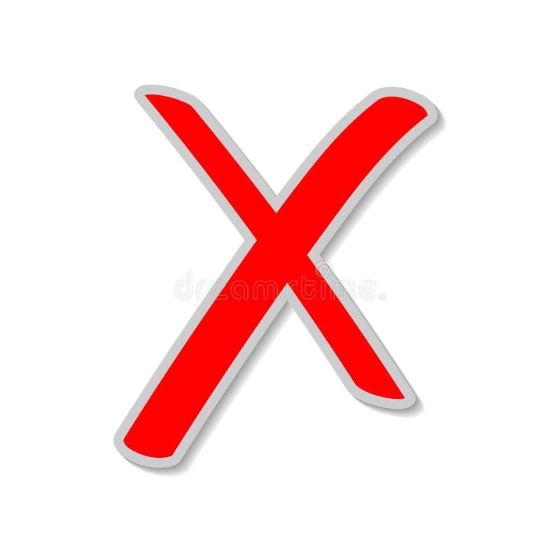 O cancelamento, não, apaga, rejeita, remove, cancela o botão ilustração stock