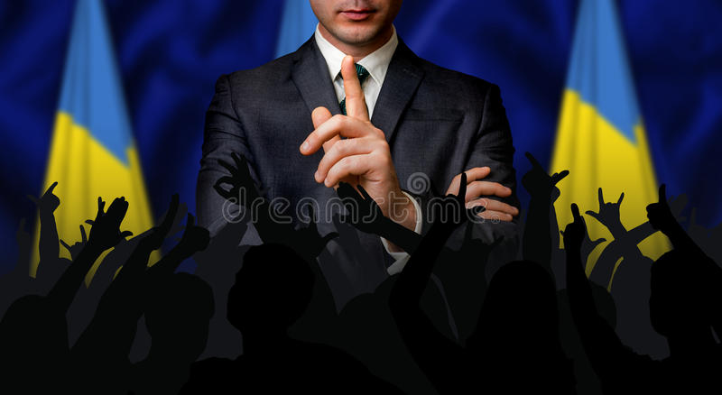 O candidato ucraniano fala à multidão dos povos imagem de stock royalty free