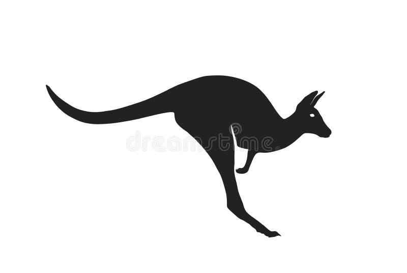 O canguru salta o ícone Vista lateral S?mbolo australiano imagem isolada do vetor do animal selvagem ilustração stock