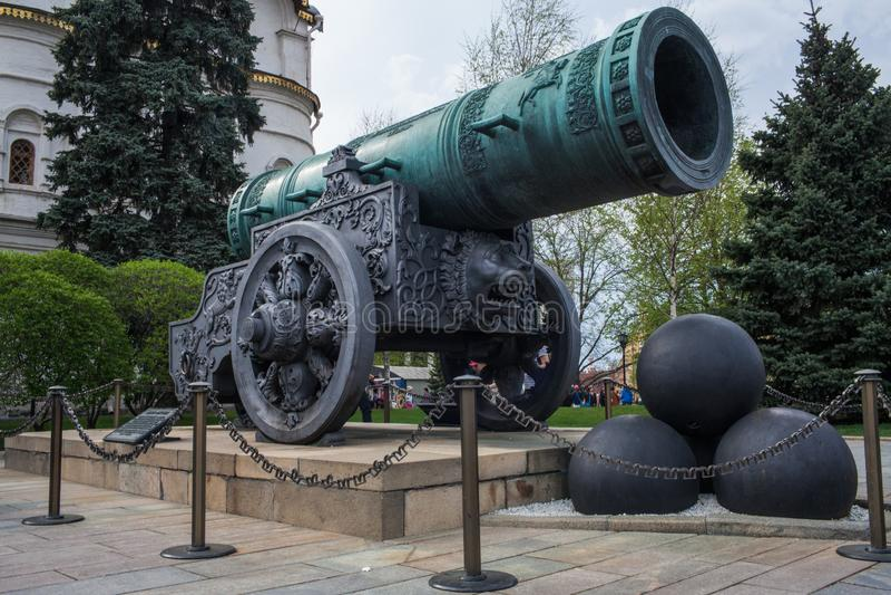 O canhão de Tsar fotografia de stock royalty free