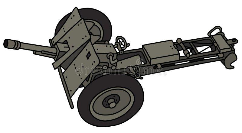 O canhão retro do campo ilustração do vetor