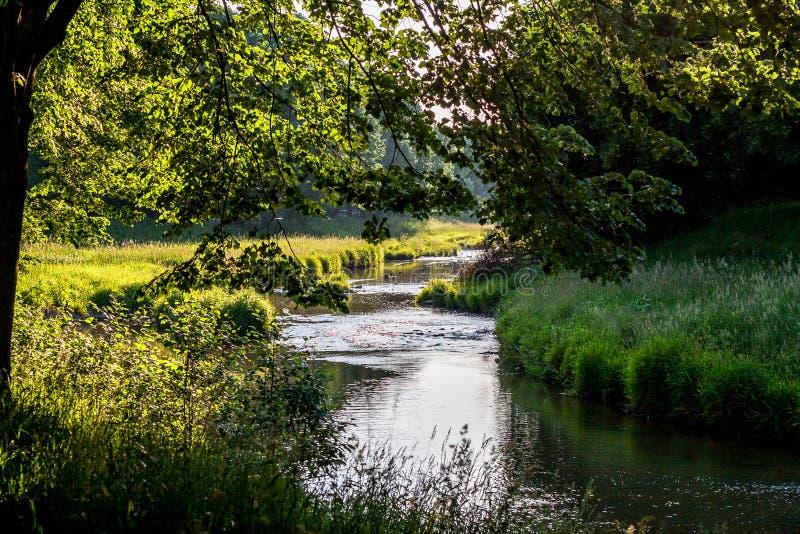 O cano principal vermelho - Bayreuth imagens de stock royalty free