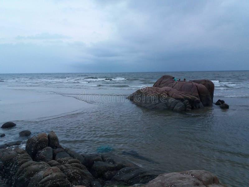 O canto da praia imagem de stock