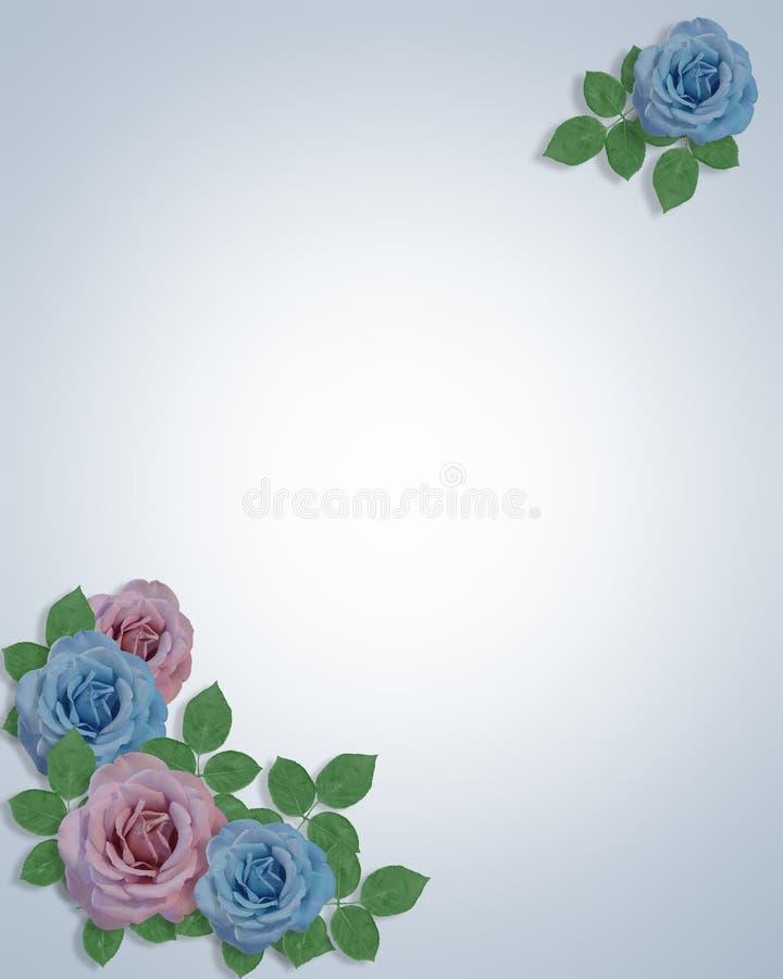 O canto das rosas do azul e da alfazema projeta o molde ilustração royalty free