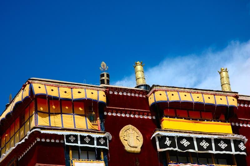 O canto do palácio de Potala fotografia de stock