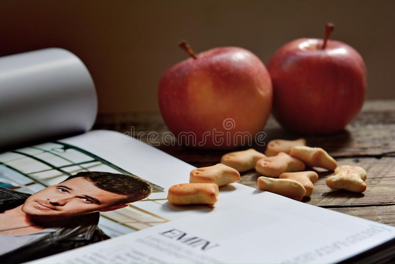 O cantor favorito no compartimento favorito, lendo o compartimento de Baku imagens de stock royalty free