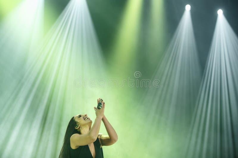 O cantor ucraniano famoso Jamala reza imagens de stock royalty free