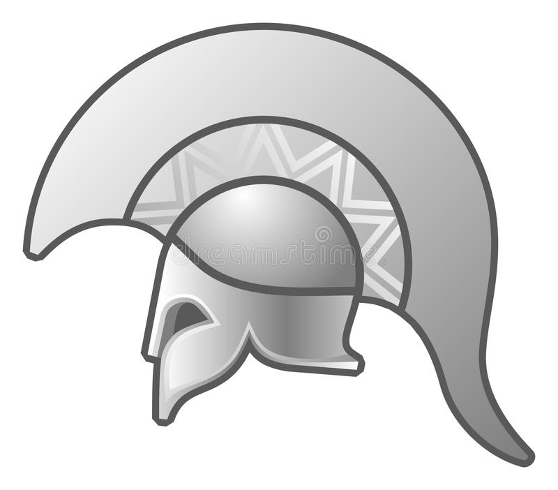 O capacete ilustração do vetor