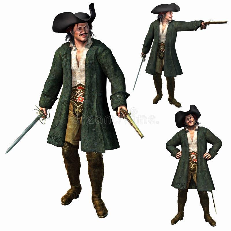 O capitão do pirata ilustração royalty free