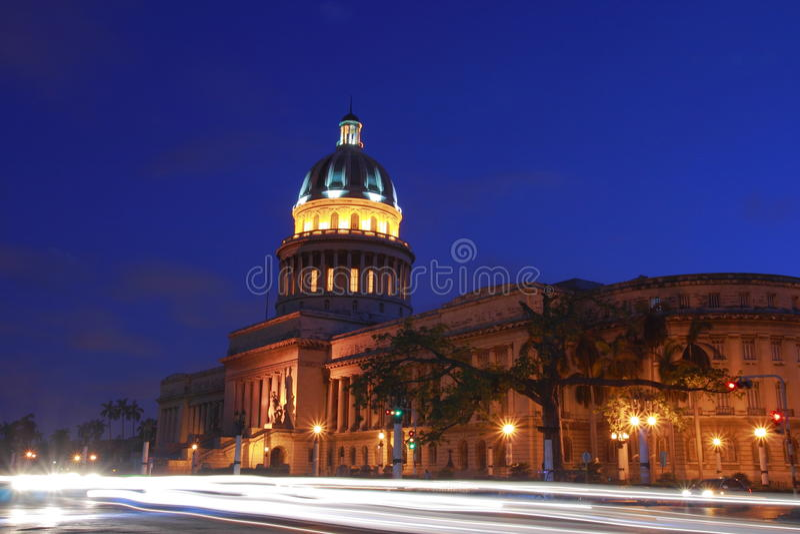 O Capitólio em Havana fotografia de stock