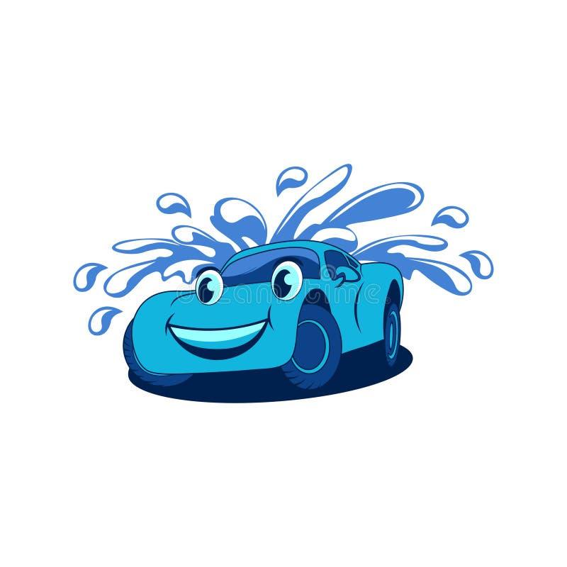 O caráter da mascote de um carro de esportes dos desenhos animados ilustração stock