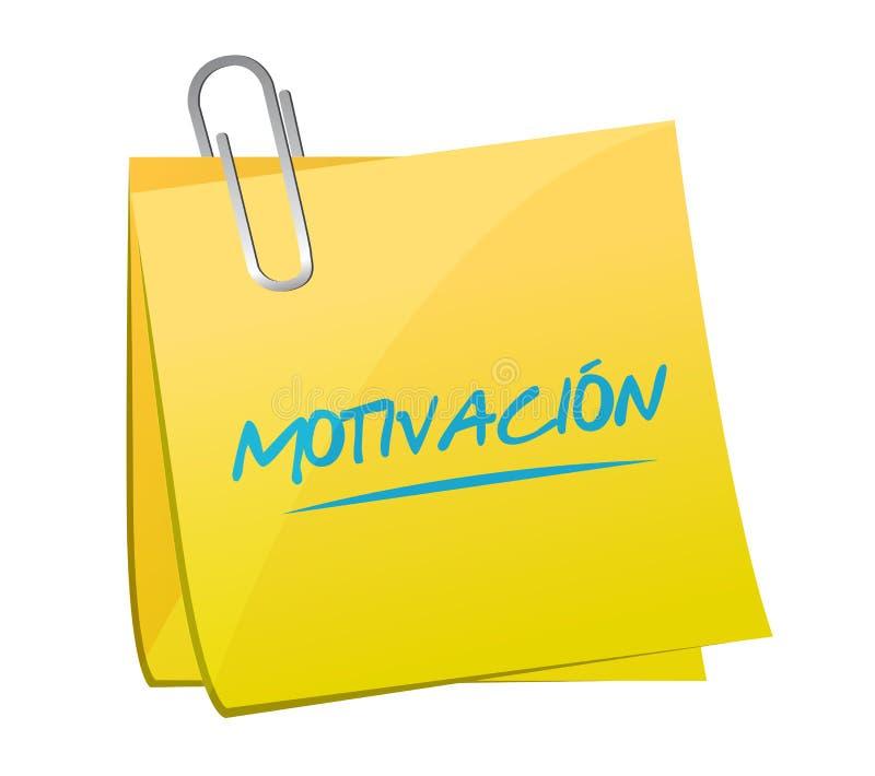 O cargo do memorando da motivação assina dentro o conceito espanhol imagem de stock