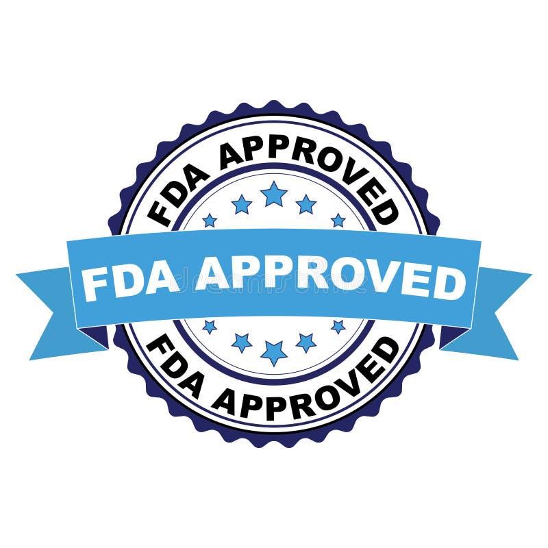 O carimbo de borracha com FDA aprovou o conceito ilustração do vetor