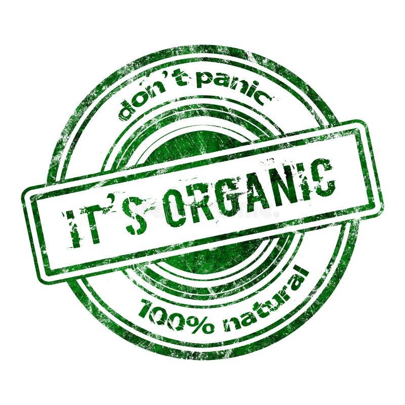 O carimbo de borracha do Grunge 'não se apavora ele é orgânico ' ilustração royalty free