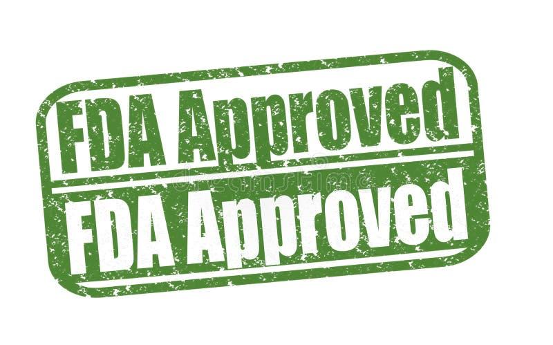 O carimbo de borracha FDA aprovou ilustração stock