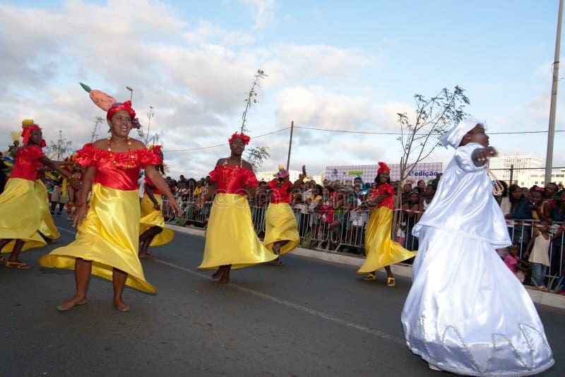 O carnaval anual em Cabo Verde 2011 fotografia de stock
